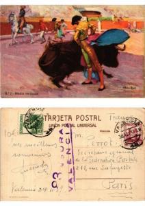 CPA AK Bullfighting - Media Veronica (775772)