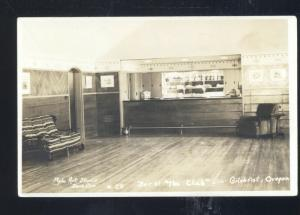 RPPC GILCHRIST OREGON THE CLUB BALLROOM DANCE HALL VINTAGE REAL PHOTO POSTCARD