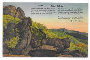 Virginia Poet Laureate Blue Shine Ruby Alitzer Roberts Mountains Vntg Postcard