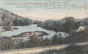 Vermont Wilmington View From H T And W R R 1936