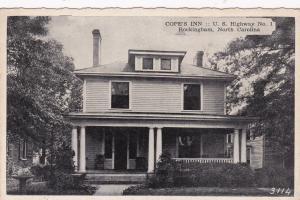 ROCKINGHAM , North Carolina , 10-30s ; Cope's Inn , U. S. Highway No. 1