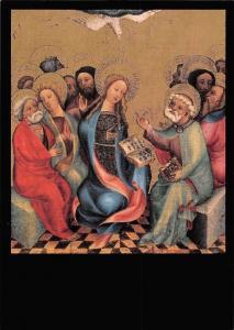 Meister Bertram, Pfingstfest Passionsaltar, Kunstkarte No 1418
