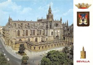 Spain Sevilla Catedral Street Vintage Cars Voitures Cathedral Dom