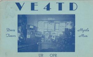 Ham Radio operator , MYRTLE . Manitoba , Canada , PU-1951