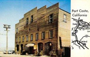 PORT COSTA, CA Famous Warehouse Main Street Antiques c1960s Vintage Postcard