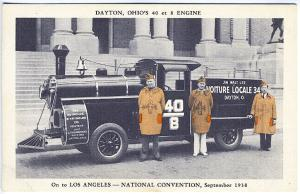 Overland Engine French Influence National Convention Los Angeles CA Postcard