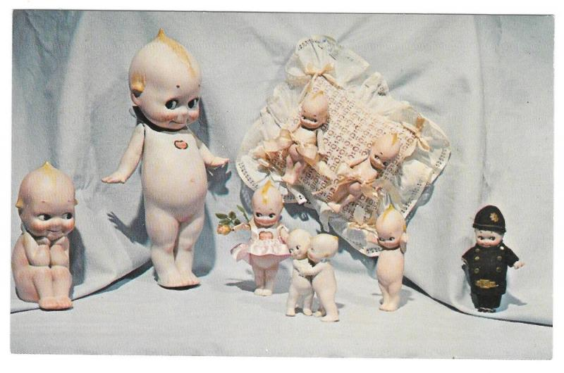 Kewpie Dolls Rose O'Neill Mary Merritt Doll Museum Postcard