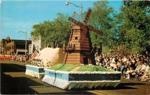 Holland MI~Tulip Festival~Float~Windmill~1954 Postcard
