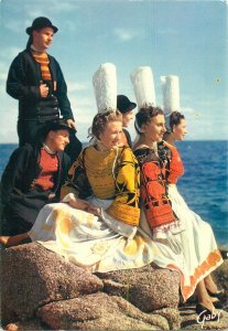 Ethnic traditions Postcard French Folklore rural costume Bretagne Pont l Abbe
