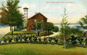 OH - Dayton. Log Cabin and Park