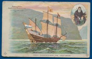 Henry Hudson's Ship Half Moon Official Souvenir postcard #1