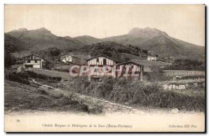Old Postcard Basque mountains Cottages and Sava