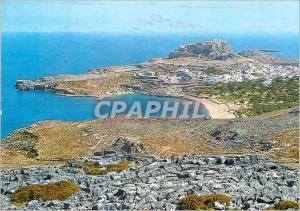 Modern Postcard Lindos Acropolis and Partial