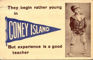 New York Coney Island They Begin Rather Young 1910 Pennant Series