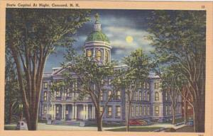New Hampshire Concord State Capitol At Night