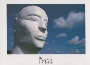 Floriade 1992 Amsterdam Dutch Flower Festival Holland Statue Monument Postcard