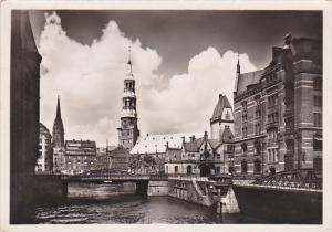 Germany Hamburg St Katharinenkirche und Nikolaikirche Real Photo