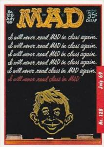 Lime Rock Trade Card Mad Magazine Cover Issue No 128 July 1969
