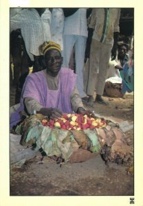 Guidan Ider nigerian type ethnic market seller postcard