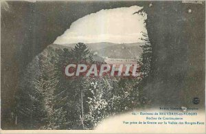Postcard Old Evirons Bruyeres in Vosges Rocks Contimpierre Pictures Taking th...