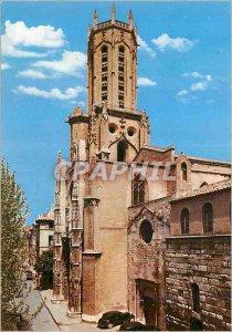 Modern Postcard Aix en Provence la Cite du Roy Rene Cathedrale Saint Sauveur