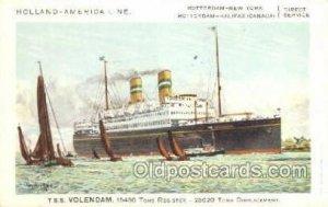 TSS Volendam Holland - America Line, Steamer, Steam Boat, Ship Unused