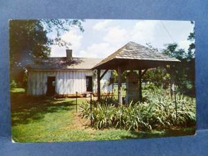 Postcard AL Tuscumbia Ivy Green Helen Keller Birth Place Slave Quarters