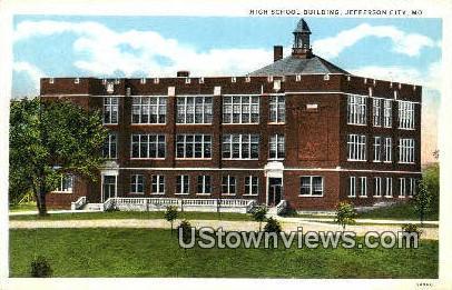 High School Bldg Jefferson City MO Unused