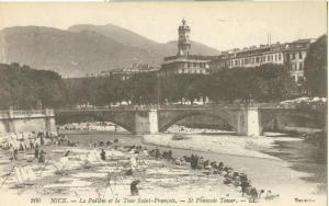 Nice, Le Paillon et la Tour Saint-Francois, early 1900s