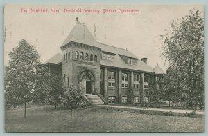 East Northfield Massachusetts~Northfield Seminary~Skinner Gymnasium~1910 B&W
