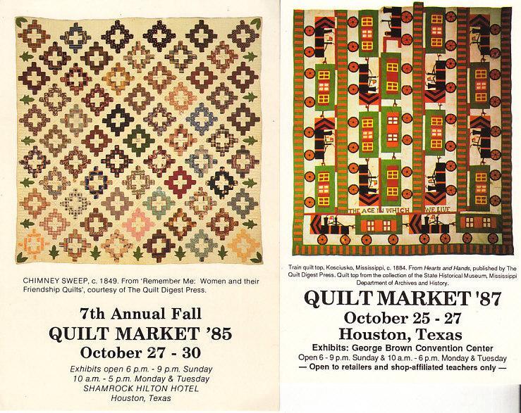 Quilt Market Cards - 1985 & 1987