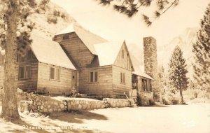 RPPC Big Pine Creek, California GLACIER LODGE c1920s Vintage Photo Postcard