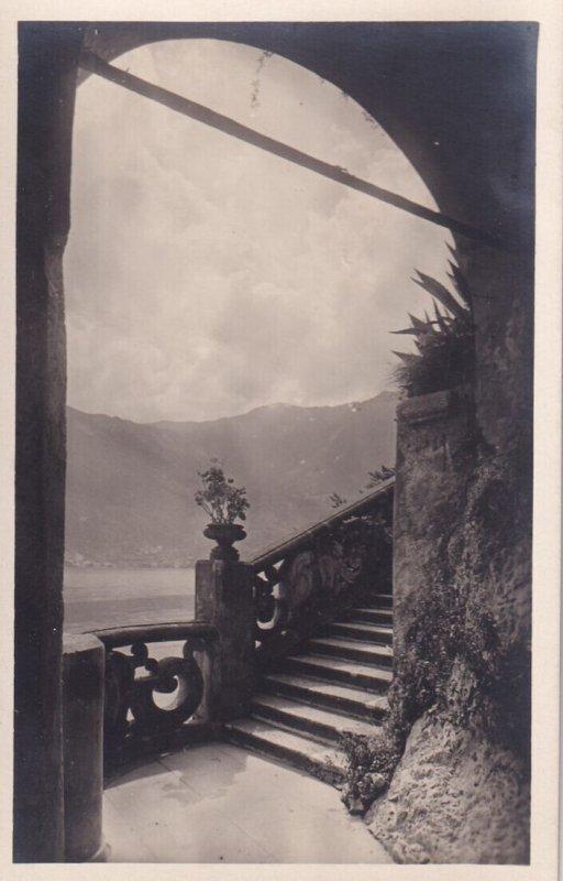 RP; LAGO DI COMO, Italy, 1920-1940s; Punta Di Balbianello, Scalinata