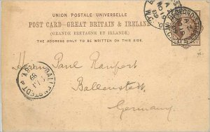 Entier Postal Stationery Postal Great Britain Great Britain 1899 Bedford to B...