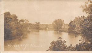 Drury Kansas~Railroad Deck Bridge (Trestle) Over the Chikaskia River~c1907 RPPC