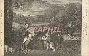 Postcard Old School Louvre Museum said Venetian Tiziano Vecelli Titian (1447 ...