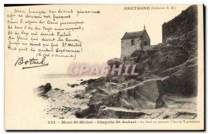 Old Postcard Songs of Botrel Mont Saint Michel Chapel St Aubert Ilot Tombelaine