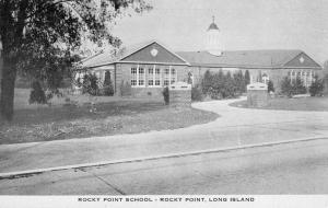 Rocky Point Long Island New York Rocky Point School Vintage Postcard JC932823