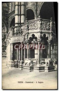 Old Postcard Siena Cathedral This pulpito