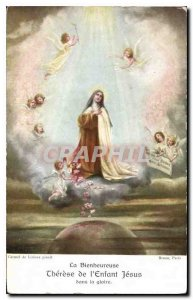 Old Postcard Blessed Cherese of the Child Jesus in glory