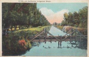 A CALIFORNIA Irrigation Ditch, 1900-10s