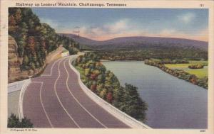 Highway Up Lookout Mountain Chattanooga Tennessee 1957