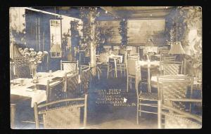 Hoffman Hotel-Garage Porch Restaurant Bedford PA Lincoln Highway RPPC used c1922