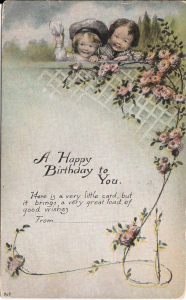 US#542 Green - On Happy Birthday Post Card