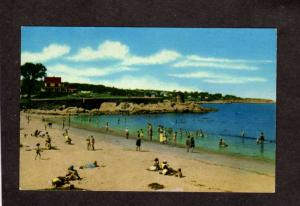 MA Rockport Beach Bathers Cottages Houses  Massachusetts Mass Postcard