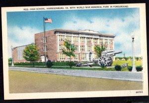 Virginia HARRISONBURG High School with World War Memorial Park Foreground - WB