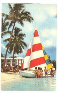 Sail Boats, Grand Bahama Hotel, Barbados, 40-60s