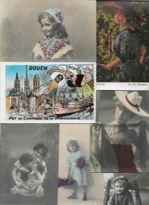 Victorian Style Female and Kids And More Postcard Lot of 20 01.13