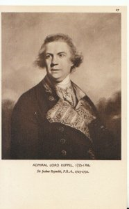 Naval History Postcard - Admiral Lord Keppel - 1725 - 1786 - Ref 19890A