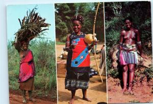 *Bantu Bantoelewe Swazi Naked Women Swaziland South Africa Vintage Postcard C46